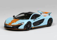 1/43 TSM McLaren P1 (Blue/Orange) Enclose Diecast Car Model