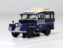 1/43 TSM 1955 Land Rover Series I Defender 90 Oxford & Cambridge For Eastern Expedition (Cambridge Blue) Enclosed Diecast Car Model