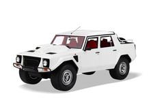 1/18 Kyosho Lamborghini LM002 (White) Enclosed Car Model