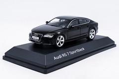 1/43 Dealer Edition Audi RS7 Sportback (Black) Diecast Car Model