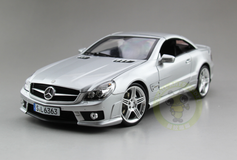 1/18 RMZ MERCEDES-BENZ SL63 AMG Convertible (Silver) Diecast Car Model
