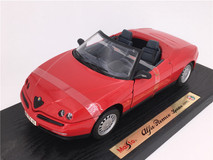 RARE 1/18 Maisto Special Edition 1995 Alfa Romeo Spider (Red) Diecast Car Model