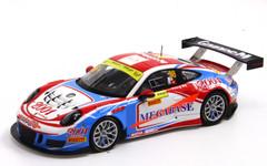 1/43 Spark Porsche 911 GT3 R GruppeM Racing Macau GT World Cup 2016 Diecast Car Model