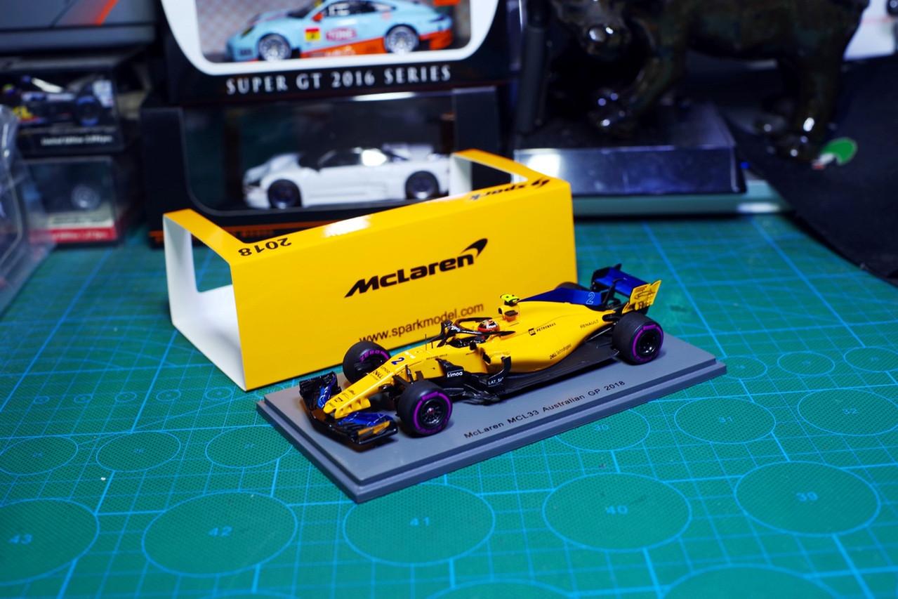 1/43 spark formula 1 f1 mclaren mcl33 australian gp 2018 stoffel