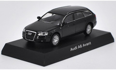 1/64 Kyosho Audi A6 Avant (Black) Diecast Car Model