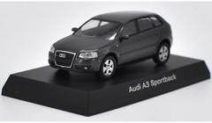 1/64 Kyosho Audi A3 Sportback (Black) Diecast Car Model