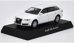 1/64 Kyosho Audi A6 Avant (White) Diecast Car Model