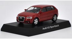1/64 Kyosho Audi A3 Sportback (Red) Diecast Car Model