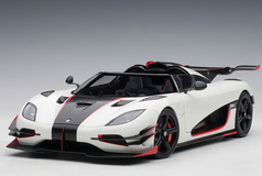 1/18 AUTOart KOENIGSEGG ONE : 1 (PEBBLE WHITE/CARBON BLACK /RED ACCENTS) Diecast Car Model