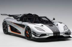 1/18 AUTOart KOENIGSEGG ONE : 1 (MOON GREY/CARBON BLACK /ORANGE ACCENTS) Diecast Car Model