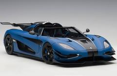 1/18 AUTOart KOENIGSEGG ONE : 1 (MATT IMPERIAL BLUE/CARBON BLACK/WHITE ACCENTS) Diecast Car Model