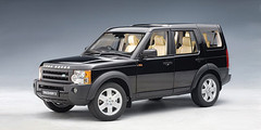 RARE 1/18 AUTOart Land Rover DISCOVERY 3 2005 - BLACK Diecast Car Model