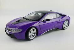 1/18 Dealer Edition BMW i8 (Purple) Diecast Car Model
