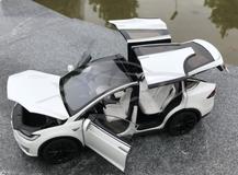 1/18 Dealer Edition Tesla Model X P100D (White) Full Open Diecast Car Model