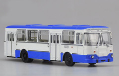 1/43 Dealer Edition 677M Russia Bus (Blue) Diecast Car Model