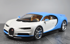 1/18 GTAUTOS GTA Bugatti Chiron (White/Blue) Diecast Car Model