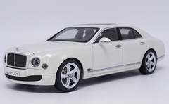 1/18 Kyosho Bentley Mulsanne (White) Diecast Car Model