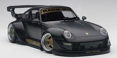 1/18 AUTOart Porsche 911 RWB 993 (MATT BLACK/GOLD WHEELS) Diecast Car Model