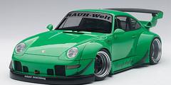 1/18 AUTOart Porsche 911 RWB 993 (GREEN/GUN GREY WHEELS) Diecast Car Model