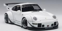 1/18 AUTOart Porsche 911 RWB 993 (WHITE/GUN GREY WHEELS) Diecast Car Model