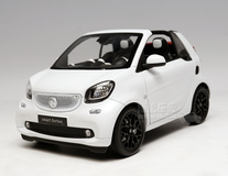 1/18 Dealer Edition Mercedes-Benz MB Smart Fortwo Coupe Convertible (White) Diecast Car Model