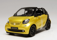 1/18 Dealer Edition Mercedes-Benz MB Smart Fortwo Coupe Convertible (Yellow) Diecast Car Model