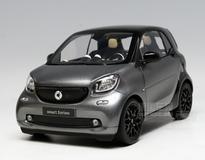 1/18 Dealer Edition Mercedes-Benz MB Smart Fortwo Coupe Hardtop (Grey) Diecast Car Model