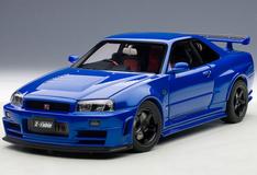 1/18 AUTOart NISSAN R34 GT-R GTR NISMO Z-TUNE (BAYSIDE BLUE) Diecast Car Model