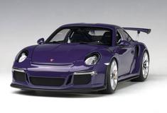1/18 AUTOart PORSCHE 911(991) GT3 RS (ULTRAVIOLET/SILVER WHEELS) Diecast Car Model