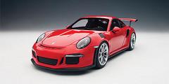1/18 AUTOart PORSCHE 911(991) GT3 RS (GUARDS RED/SILVER WHEELS) Diecast Car Model