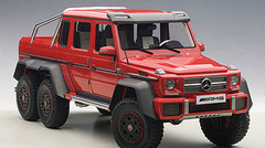 1/18 AUTOart MERCEDES-BENZ MB G63 AMG 6X6 (RED) Diecast Car Model 76304