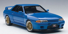 1/18 AUTOart NISSAN SKYLINE GT-R GTR (R32) V-SPEC II TUNED VERSION (BLUE) Limited 1500 Diecast Car Model 77415