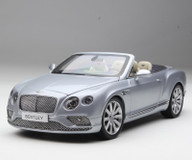 1/18 Paragon 2016 Bentley Continental GT Convertible (Silver) Diecast Car Model