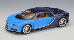 1/24 Welly FX Bugatti Chiron (Blue) Diecast Car Model