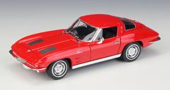 1/24 Welly FX 1963 Chevrolet Chevy Corvette (Red) Diecast Car Model