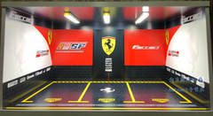 1/18 Ferrari Theme 3 Car Garage Scene w/ Lights (car model not included)