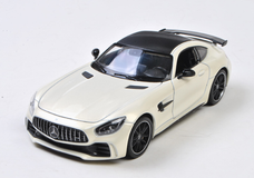 1/24 Welly FX Mercedes-Benz MB Mercedes AMG GTR GT R (White) Diecast Car Model