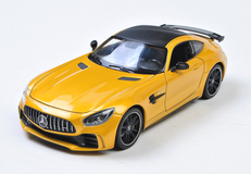 1/24 Welly FX Mercedes-Benz MB Mercedes AMG GTR GT R (Yellow) Diecast Car Model