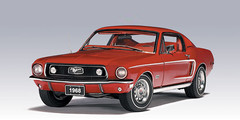 RARE 1/18 AUTOart FORD MUSTANG GT 390 GT390 1968 (RED) Diecast Car Model 72801