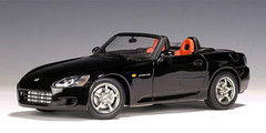 1/18 AUTOart HONDA S2000 (BLACK) (US VERSION) LH DRIVE Diecast Car Model 73207