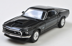 1/24 Welly FX 1969 Ford Mustang Boss 429 (Black) Diecast Car Model