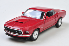1/24 Welly FX 1969 Ford Mustang Boss 429 (Red) Diecast Car Model