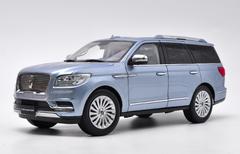 1/18 Dealer Edition Lincoln Navigator (Silver Blue) Diecast Car Model