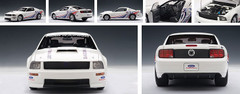 1/18 AUTOart Ford Mustang Cobra 2009 White with Livery Diecast Car Model 72921