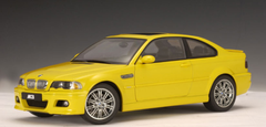 RARE 1/18 AUTOart BMW E46 M3 (Yellow) Diecast Car Model 70542