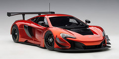 1/18 AUTOart McLAREN 650S GT3 (VOLCANO ORANGE/BLACK ACCENTS) Diecast Car Model 81642