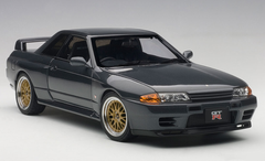 1/18 AUTOart NISSAN SKYLINE GTR GT-R (R32) V-SPEC II TUNED VERSION (GUN GREY METALLIC) Diecast Car Model 77417