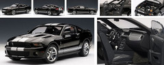 1/18 AUTOart Ford Mustang Shelby GT500 (Black w/ Silver Stripes)