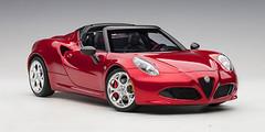 1/18 AUTOart ALFA ROMEO 4C SPIDER (COMPETITION RED) Diecast Car Model 70142