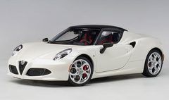 1/18 AUTOart ALFA ROMEO 4C SPIDER (BIANCO TROFEO/WHITE) Diecast Car Model 70141